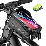 ROCKBROS Fahrrad Rahmentasche Wasserdicht Lenkertasche Oberrohrtasche Touchscreen für iPhone XR XS MAX X 8 7 6 Plus/Samsung Galaxy S10+ Note 9 / Huawei P30 Pro...