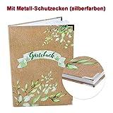 Logbuch-Verlag Gästebuch grün braun Kraftpapier-Optik DIN A4 - Blankobuch Gäste Buch zum Eintragen Hochzeit Ferienwohnung Hotel