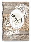 """Hochzeitstagebuch """"Ja, ich will!"""": Der umfangreiche Begleiter für die Hochzeitsvorbereitungen mit Tipps und Hinweisen: Der umfangreiche Begleiter für ......"""