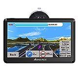 Navigation für Auto, Aonerex 7 Zoll Touchscreen GPS Navi für LKW PKW KFZ 8 GB Navigationsgerät mit 2021 UK Europa Karte Lebenslang kostenlos Kartenupdate