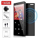 16GB MP3 Player mit Bluetooth 4.2, Musik-Player Digital Audio Portable Lossless Sound Musik-Player mit FM-Radio/Bild/E-Book, Unterstützung erweiterbar bis zu...