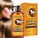 Haarshampoo, Haarpflege Shampoo, Horse Oil Shampoo, Haarwachstums Shampoo, Anti-Haarverlust Shampoo,Effektiv gegen Haarausfall, Natürliche Haarpflege für...