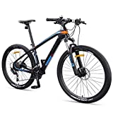 NENGGE Hardtail MTB 27.5 Zoll 27 Gang-Schaltung für Herren Damen, Erwachsenen Mountainbike mit Gabelfederung & Hydraulische Scheibenbremse, Jugend Kohlefaser...
