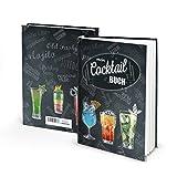 Eintragbuch Cocktailbuch Rezeptbuch zum Selberschreiben für Cocktails Bar-Getränke Mix-GetränkeAperitif happy hour Party-Drinks mit ohne Alkohol für...