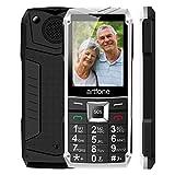 Seniorenhandy, Artfone Mobiltelefon Senioren-Handy Großtastenhandy ohne Vertrag mit großen Tasten 2,4 Zoll Farbdisplay Notruftaste Taschenlampe GSM Dual SIM...