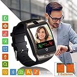 Smartwatch Fitness Armband Uhr mit Schrittzähler Touchscreen Kamera SIM-Karte Slot Fitness Tracker Fitnessuhr Smart Watch für Samsung Huawei Xiaomi LG Android...
