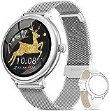AIMIUVEI Smartwatch Damen,Fitness Tracker IP68 Wasserdicht Smart Watch mit Aktivitätstracker Schlafmonitor,Sportuhr Fitnessuhr Pulsuhren Schrittzähler Uhr...