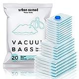 Vakuumbeutel Kleidung 20er Set 3 Größen - Vakuum Beutel für Staubsauger Wiederverwendbar 100% Dicht & Robust   Reise Kompressionsbeutel Kleiderbeutel...
