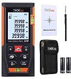 Laser Entfernungsmesser, TACKLIFE Distanzmessgerät, Messbreich 0.05~40m/±1.5mm, mit 2 Libellen Messeinheit M/In/Ft, IP54 Staub und Spritzwasserschutz, mit LCD...