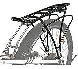 P4B   Fahrrad Gepäckträger hinten - verstellbar für 24/26 / 28/29 Zoll   Rahmenbefestigung mit Befestigungsmaterial   Inkl. 2X extra Schellen für...