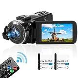 Videokamera Full HD 2.7K 42MP 18X 30FPS Camcorder Tragbare Vlogging-Kamera Unterstützt Zeitraffer und Zeitlupen Digitalkamera mit 3-Zoll-LCD-Bildschirm...