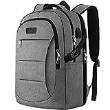 IIYBC Business Laptop Rucksack, 15,6 Zoll Freizeitrucksack mit USB-Port, Reise Rucksack mit Gepäckband, verstärke Nähte für Herren und Damen, Uni Schule...