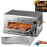 GOURMETmaxx Beef Maker XL | Oberhitze Gasgrill aus Edelstahl | 800° C | Hochleistungs Grill für Steaks wie vom Profi | Stufenlos regulierbarer...