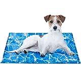 Iokheira Kühlmatte für Hunde, strapazierfähige Kühlmatte für Haustiere, Ungiftiges Gel, Selbstkühlende Kissen, ideal für Hunde Katzen im heißen Sommer...