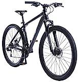 BIKESTAR Hardtail Aluminium Mountainbike Shimano 21 Gang Schaltung, Scheibenbremse 29 Zoll Reifen | 19 Zoll Rahmen Alu MTB | Blau Weiß