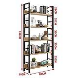 ZMXZMQ Hohes Bücherregal, Regalsystem Für Bücherregale 5-Stufig, Umweltschutzfolie Und Bücherregale Aus Metall,5layers182*30 * 60cm