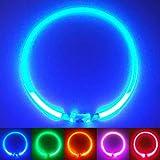 PetSol LED Leuchthalsband für Hunde USB Aufladbar LED Hundehalsband Stück hundehalsband Leuchtend Wiederaufladbares und Längenverstellbareres mit DREI...