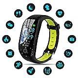 Tipmant Fitness Armband mit Pulsmesser Blutdruckmessung Smartwatch Fitness Tracker Wasserdicht IP68 Fitness Uhr Schrittzähler Pulsuhr Sportuhr für Damen...