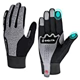 TOPLU Winter-/Outdoor-Handschuhe, wasserdicht, winddicht, mit Samt-Fäustling, Touchscreen, rutschfest, atmungsaktiv, für Radfahren, Sport, Fahrradzubehör...