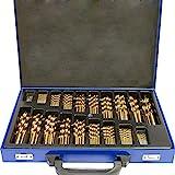 SAILUN® Metallbohrer Set 170-teilig Metallbohrersortiment HSS geschliffen, Split Point Handbohrmaschine Profi-Steinbohrersatz Bohrer Set Spiralbohrer...