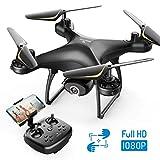 SNAPTAIN SP650 Drohne mit Kamera 1080P Full HD 120° Weitwinkel, Drohne mit 2 Akkus für 24 Minuten Flugzeit, RC Drone mit Gesten-, Sprach- und Appsteuerung, VR...