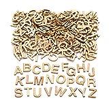 Baker Ross Mini-Großbuchstaben aus Holz (260 Stück) – für Kinder zum Basteln, Gestalten und Dekorieren