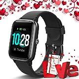 Lintelek Smartwatch Fitness Armband mit Pulsuhren 1,3 Zoll Touchscreen Fitness Uhr Wasserdicht IP68 Armbanduhr Fitness Tracker Sportuhr mit Schrittzähler für...