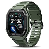 KOSPET Rock Smartwatch 1,69 Zoll 3ATM wasserdichte Fitnessuhr mit Blutdruckmessung, Herzfrequenz Messgerät, Schrittzähler Fitness Tracker, 20+ Sportmodi...