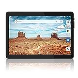 Tablet 10 Zoll Android 9.0 Pie mit Zwei Simkarten Slot, 1280 x 800 HD IPS, 2GB RAM, 32GB Speicher, Quad-Core, 6000Amh, Dual Kamera, GMS zertifiziertes, 2.4G...