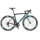 Sava Warwind4.0 Rennrad 700C Carbon Rahmen Fahrrad mit Shimano 4700 20-Fach Kettenschaltung Continental Ultra Sport II 25C Reifen und Doppel-V-Bremse (540mm,...