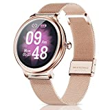 CatShin Smartwatch Damen,Fitness Armbanduhr Tracker Wasserdicht Smart Watch damen,Touchscreen Fitness Uhr für Damen mit Aktivitätstracker Herzfrequenz...