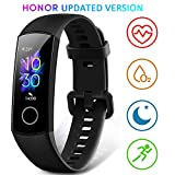 HONOR Band 5 Fitness Armband mit Pulsmesser,Wasserdicht IP68 Smartwatch Schwarz