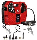 Einhell 4010486 TC-AC 180/8 OF Koffer-Kompressor + Ausblaspistole passend für Kompressoren (lang mit Stecknippel)