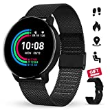 Smartwatch GOKOO 1.3 Zoll HD Voller-Touchscreen Damen Herren für Android IOS Intelligent Uhr IP67 Wasserdicht Fitness Tracker Schrittzähler Pulsuhren...