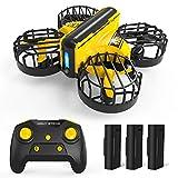 Holy Stone HS450 Mini Drohne für Kinder,RC Quadrocopter ferngesteuerte mit Fernbedienung und Handsteuerung,Nano Drone mit 3 Batterien Lange...