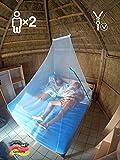 Eisberger Moskitonetz Outdoor & Indoor | Camping Moskitonetz für Reisen | Mückennetz Reise Malaria | Backpacking Reise-Moskitonetz für Doppelbett | Outdoor...