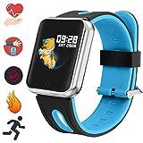 Bluetooth Smartwatch, Fitness Uhr Intelligente Armbanduhr Fitness Tracker Smart Watch Sport Uhr mit Kamera Schrittzähler Schlaftracker Romte Capture Kompatibel...