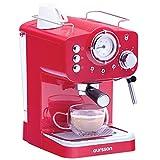 Oursson Kaffeemaschine, 3 Jahre Garantie, 15 Bar Espressomaschine, Espresso-Siebträgermaschine, Milchaufschäumer für Cappuccino und Latte, 1.5L Tank, Rot...