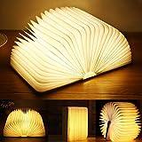 Yuanj LED Buchlampe, Hölzerne Buch Lampe, USB Aufladbare Buchlampen, Aurora Lampe Buch 360° Faltbar, Dekorative Lampen/Nachtlicht, Kreatives Geschenk für...