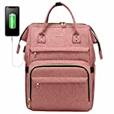LOVEVOOK Rucksack Damen mit Laptopfach 15,6 Zoll, Wasserdicht Business Backpack Schulrucksack, Stylischer Rucksack Mädchen Schultasche Uni mit USB...