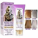 No Yellow Shampoo, Purple Shampoo, Anti Gelb Shampoo, Brassy, Silber & Color Treated Hair Moisturizer, gebleichtes und hervorgehobenes Haar, gebleichter...