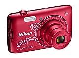 Nikon Coolpix A300Digitalkamera kompakt, 20.1MP, Wide Zoom 8X, VR, Videos HD, Bluetooth, WLAN
