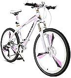 Wttfc Damen Hardtail MTB 26 Zoll 24 Gang-Schaltung, Erwachsenen Mädchen Mountainbike Fahrräder mit Gabelfederung & Scheibenbremsen, Rahmen aus...