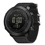 NORTH EDGE Apache Herren Outdoor Sport Digital Armbanduhr Multifunktionale Smart Watch Schwimmen Militär Armee Uhren Höhenmesser Barometer Kompass Wasserdicht...