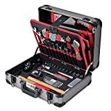 Tixit Aluminium-Werkzeugkoffer WOODY 120-teilig für Holzbearbeitung mit GS und TÜV geprüftem Werkzeug