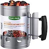 BEAU JARDIN 28x18cm Anzündkamin Rapidfire Grillen Kohle Grillkohleanzünder für BBQ Grillstarter Kompakt Kohlestarter Grillkohleanzünder Grillanzünder...