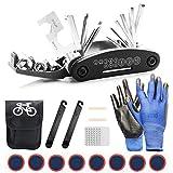 TOLIANCLE Fahrrad-Multitool, 16 in 1 Werkzeuge für Fahrrad Reparatur Set Multifunktionswerkzeug Reparatur Fahrradwerkzeug Tool, Werkzeugset Fahrrad mit Tasche,...