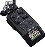Zoom H6 All Black (2020 Version) 6-Track Portable Recorder, Stereo Microphones, 4 XLR/TRS Inputs, SD Card, USB Audio Interface, Battery Powered (Podcasting and...