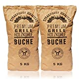 Knight's Firewood 10kg (2x5kg) Grillkohle Holzkohle Buche Buchengrillholzkohle Grillholzkohle