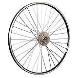 Taylor-Wheels 28 Zoll Hinterrad ZAC19 / 8 Fach Schraubkranz - schwarz